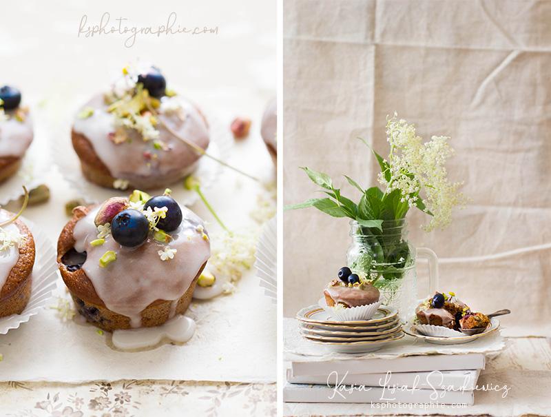 Muffins aux fleurs